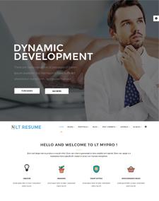 lt resume onepage free single page personal cv resume joomla template - Resume Cv Joomla Template