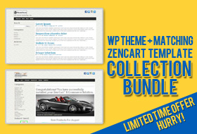 WP theme + Zen Cart Template