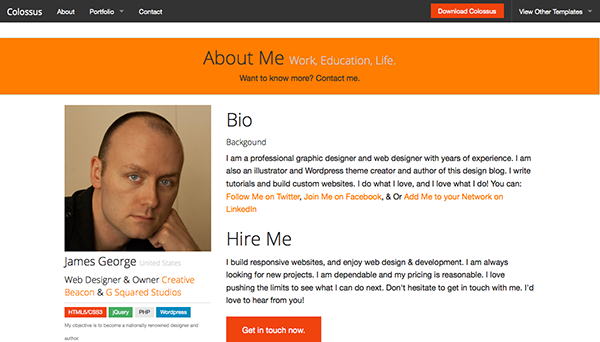 how to write a great bio for website