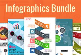 massive bundle of 100 infographics templates dealfuel