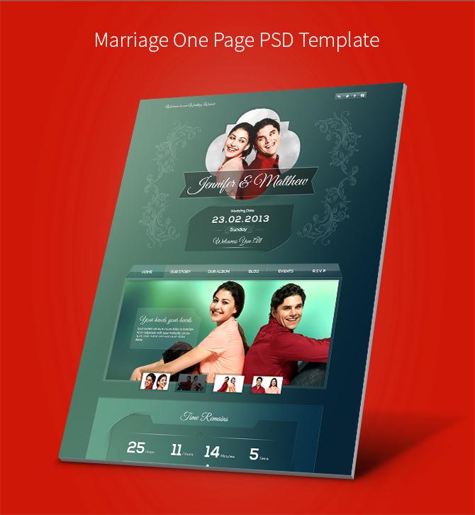 wedding invite PSD template