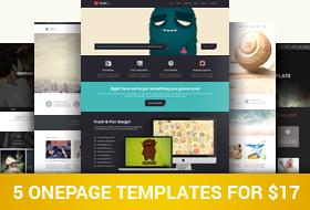5 trendy one page website templates dealfuel 5 trendy one page website templates wajeb Images