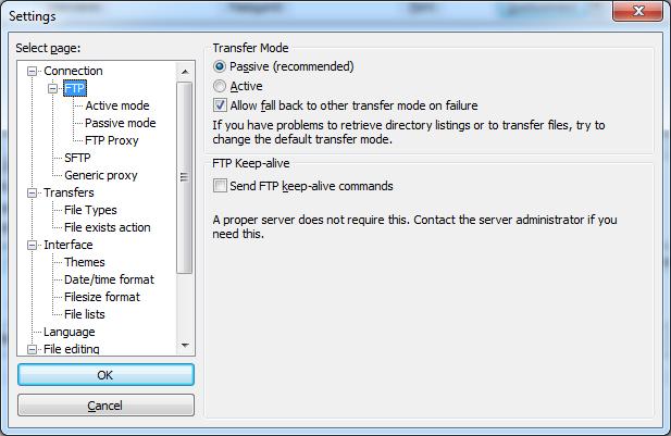 FTP errors