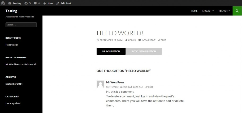 wordpress shortcode button image