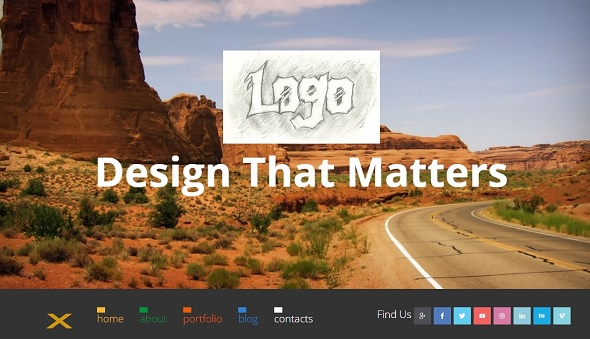 one-page website template