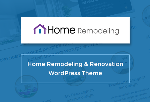 Home Remodeling A Free Responsive WordPress Theme