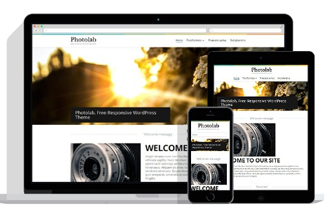 Free Responsive WordPress Theme : PhotoLab - A Modern Clean Look