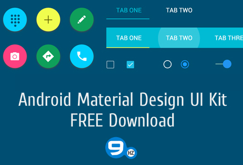App UI Design Kit – Free Material Design for Your Android App