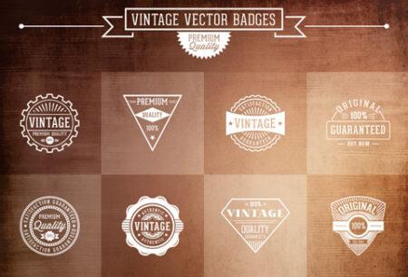free vintage vector badges