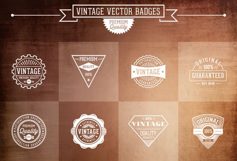 free vintage vector badges
