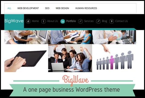 BigWave - One Page Free Business WordPress Theme | DealFuel
