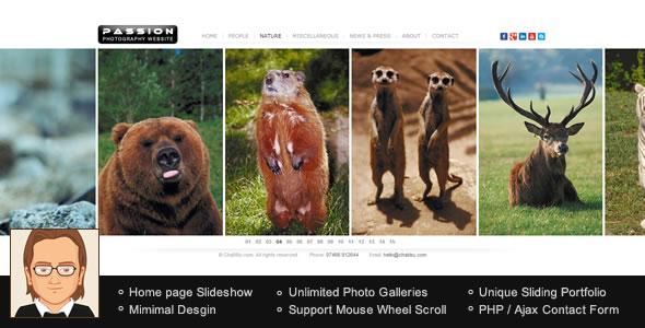 Passion Portfolio WordPress Theme
