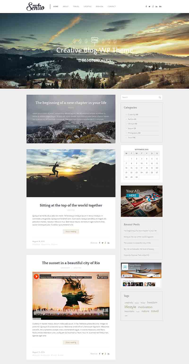 Sentio Website Theme