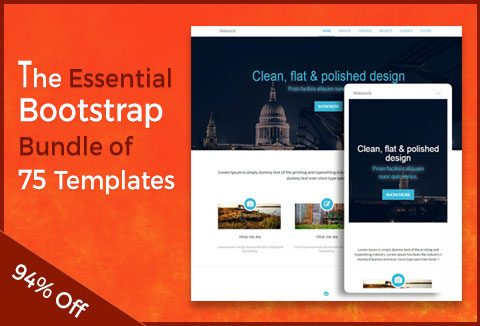 Bootstrap website templates 75 incredible templates for 75 unique bootstrap website templates for bootstrap addicts pronofoot35fo Image collections