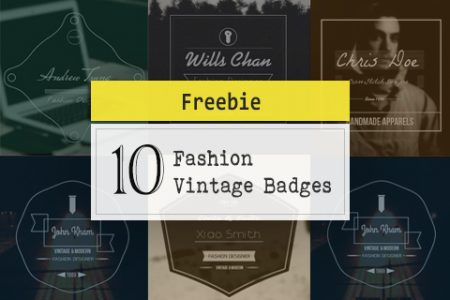 10 Fashion Vintage Badges