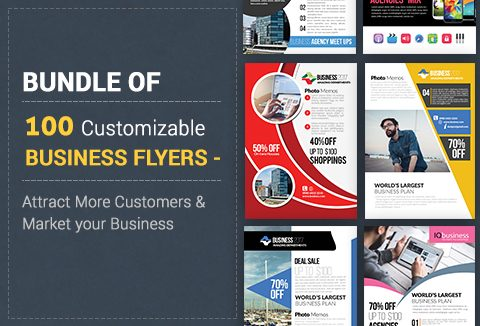 A bundle of 100 attractive psd flyer templates for your business business psd flyer templates fbccfo