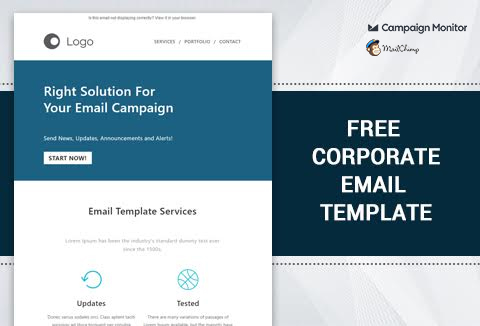 corporate email template free for your business