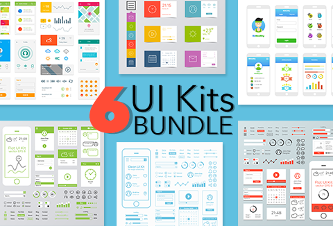 6 App UI Kits Bundle