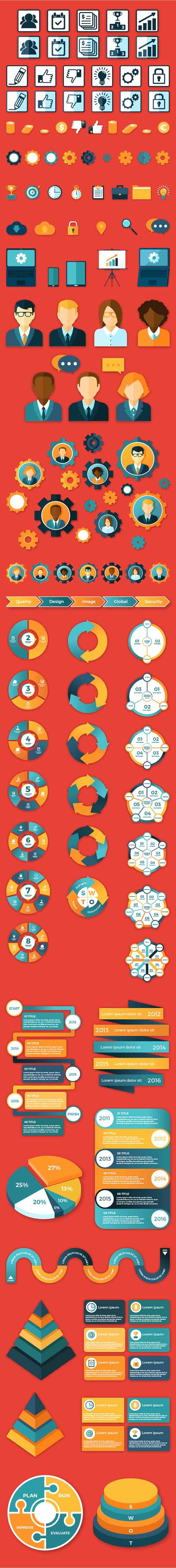 Business-Infographic-Elements-Set-1