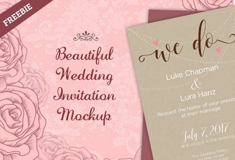 Freebie A Beautiful Wedding Invitation Mockup