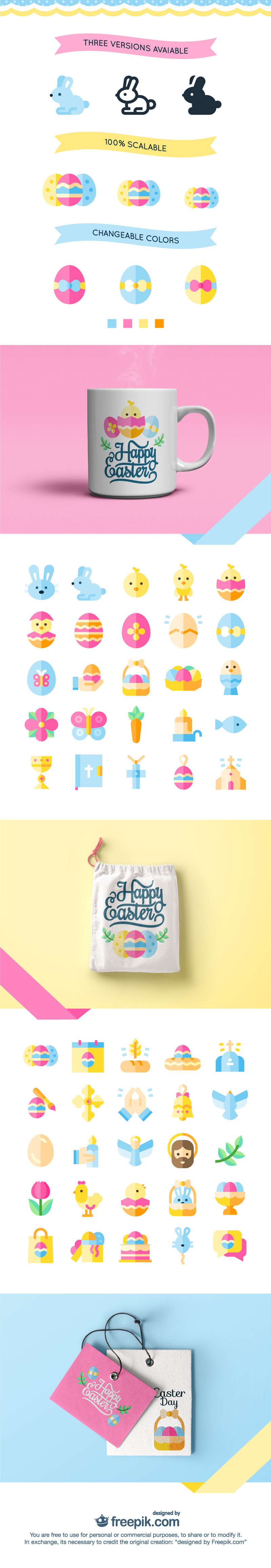 Free Easter icons pack