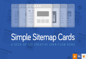Website sitemap cards