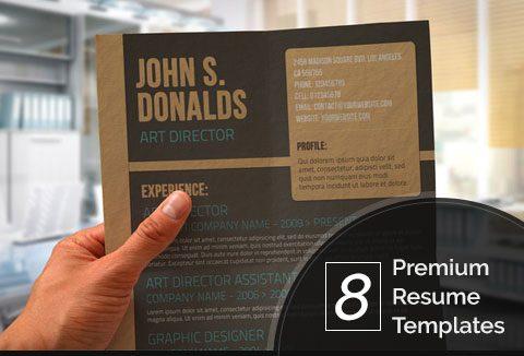 premium resume templates an amazing bundle of 8 resume templates