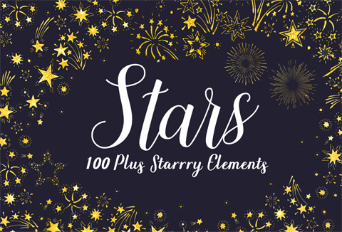 Starry Night Web Elements