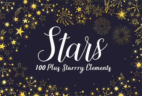Starry Night Web Elements