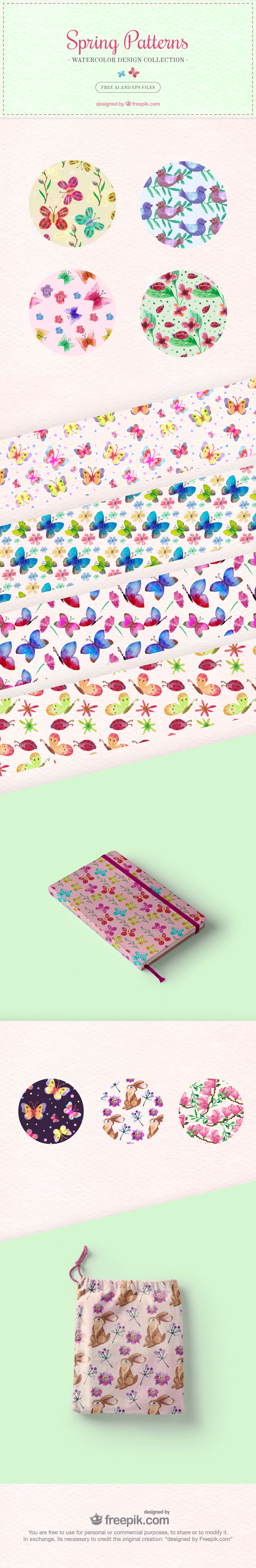 Freebie 14 Spring Background Patterns To Improve Your Web