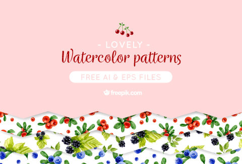 Free Watercolor Design Patterns