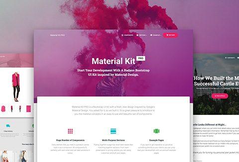 material-kit-pro - Bootstrap UI Kit