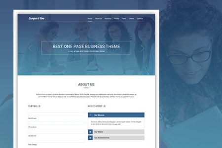 One-Page WordPress Theme