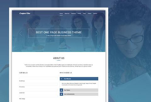 One-Page WordPress Theme