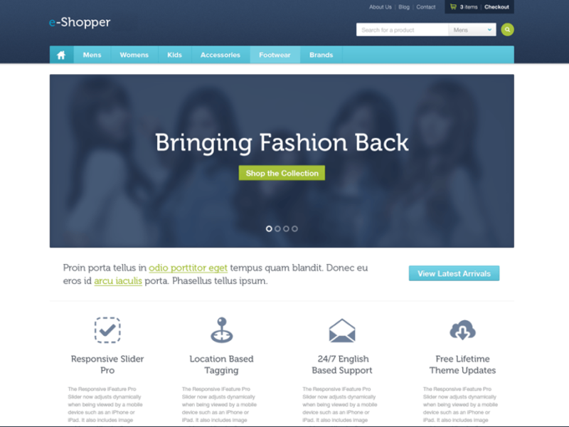 e-Shopper Free Theme