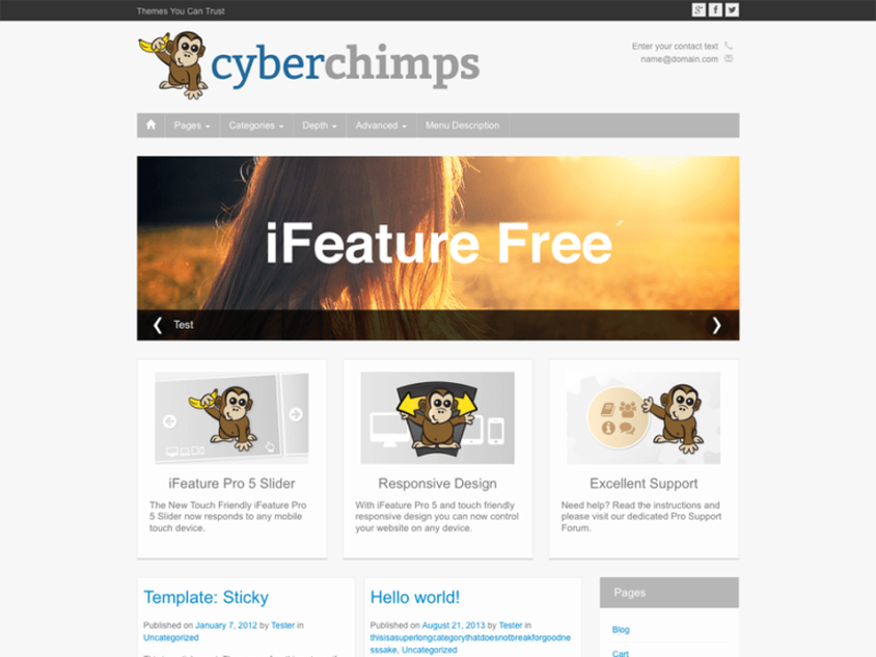 iFeature - Free WordPress Theme