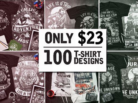 2f70d67fcf8 100 Cool T-Shirt Designs Bundle