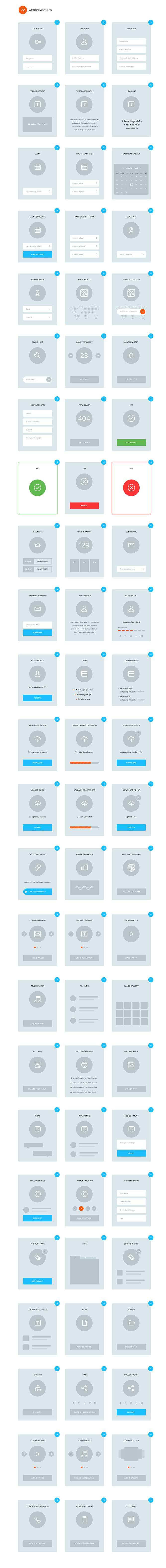 Flowchart UI UX Wireframe Kit