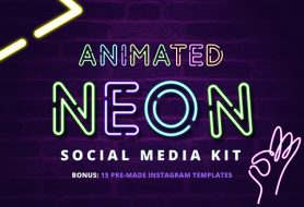 Animated Neon Signs Social Media Kit