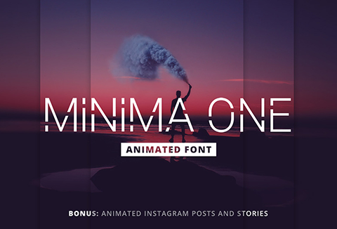Minima One Animated Font