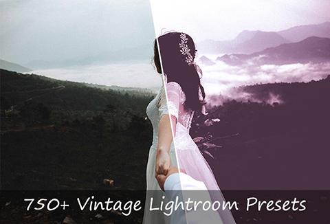 750+ vintage style lightroom preset bundle image