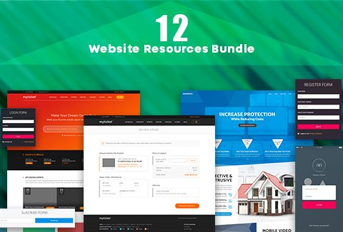 12 Website Resources Bundle Image