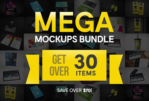 30 business mockup designs- Mega Mockups Bundle