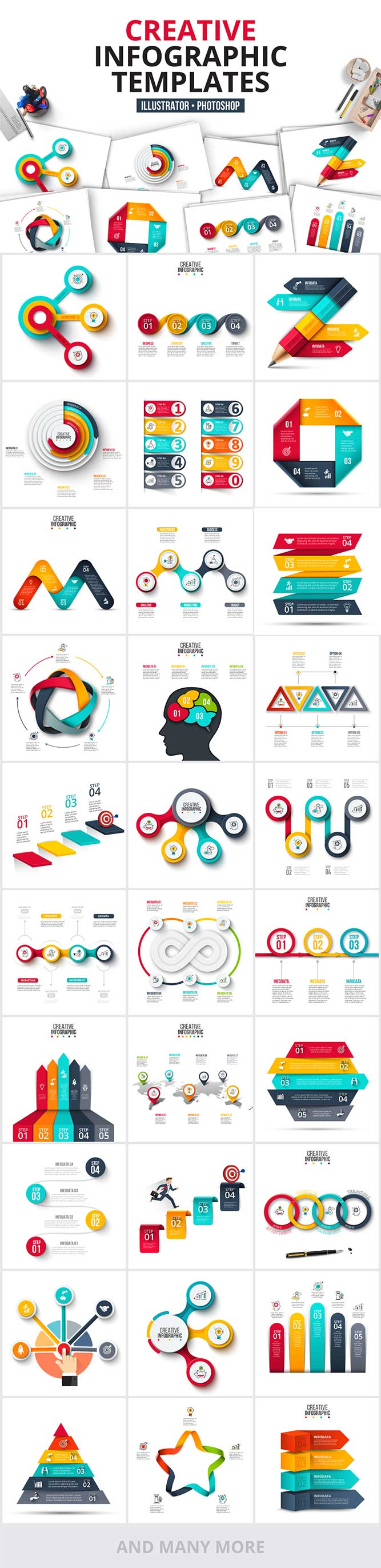 1200 Interactive Infographic Templates- 02_Creative