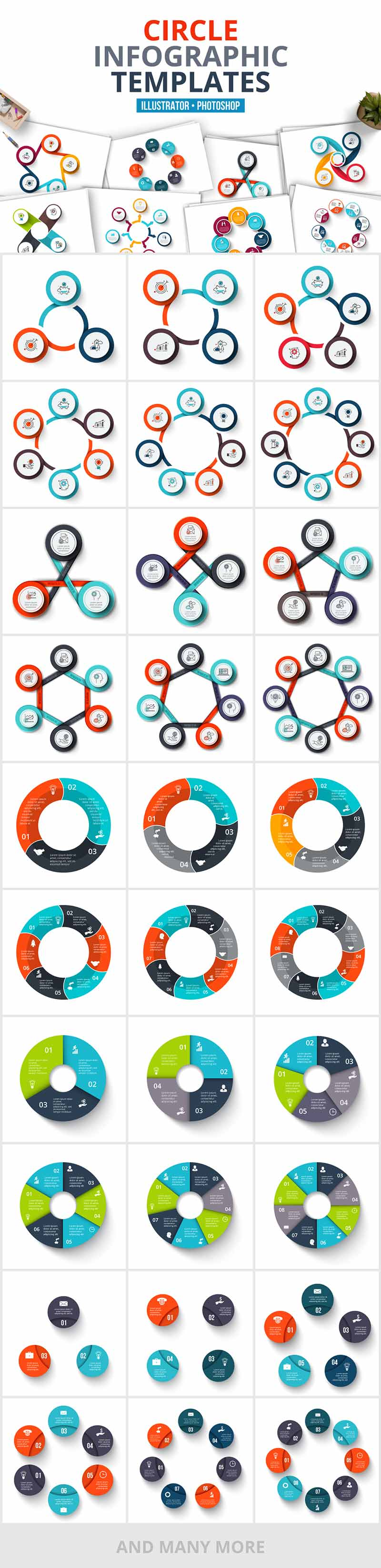 1200 Interactive Infographic Templates- 06_Circles
