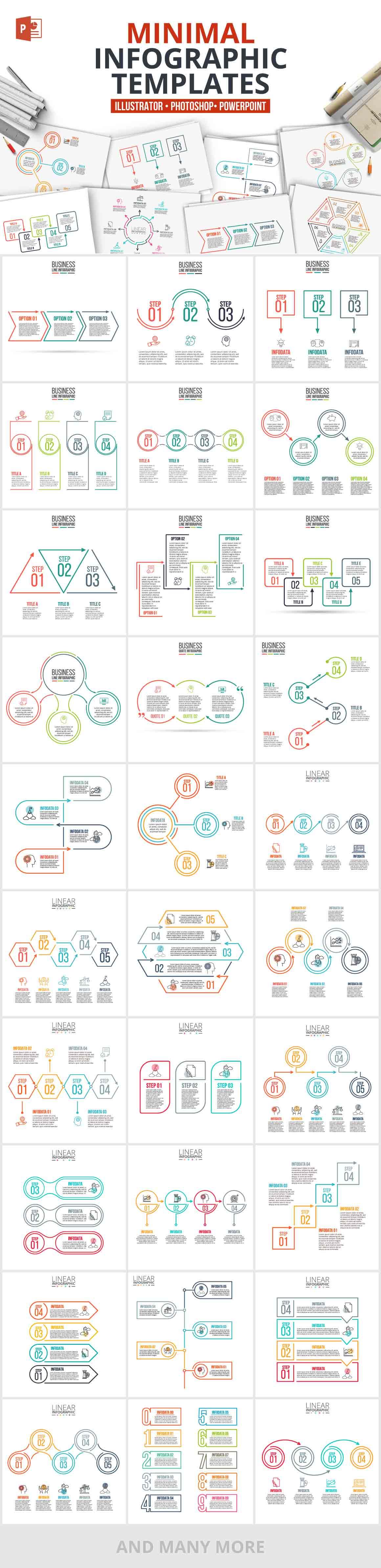 1200 Interactive Infographic Templates- 11_Minimal