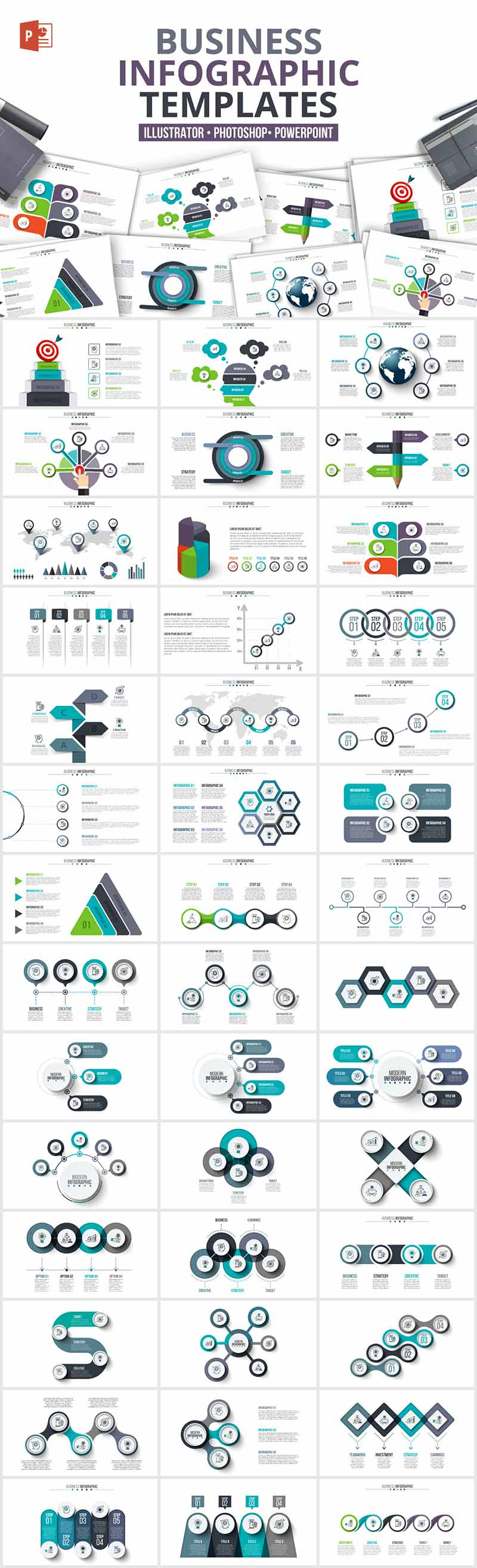 1200 Interactive Infographic Templates- 14_Business