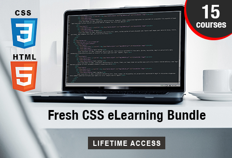 Learn CSS and HTML with Fresh CSS eLearning Bundle