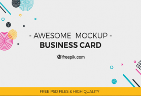 Awesome Business Card Mockup Design - Featured Image