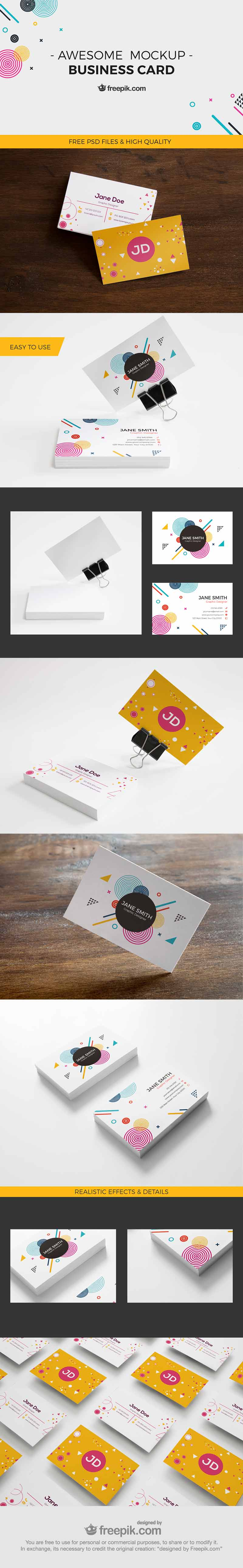 Awesome Business Card Mockup Design - Sample